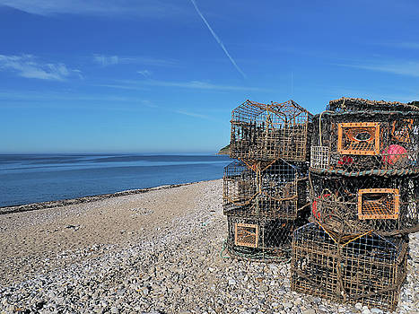 Crab Pots On Monmouth Beach - Lyme Regis by Susie Peek