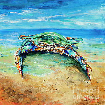 Crabby at the Beach by Dianne Parks