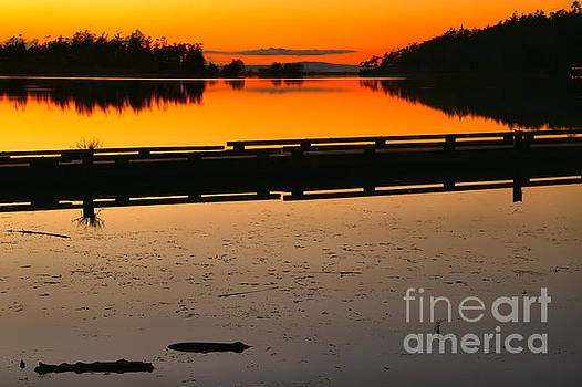 Cranberry Lake Sunset by Adam Jewell