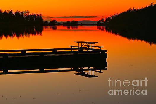 Cranberry Lake Sunset Picnic by Adam Jewell
