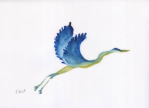 Crane In Flight by Frank Bright
