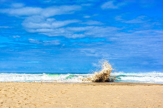 Crashing Wave at the Beach by Marion McCristall