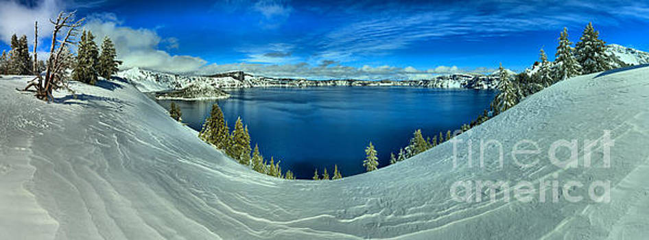 Adam Jewell - Crater Lake Winter Panorama Scene