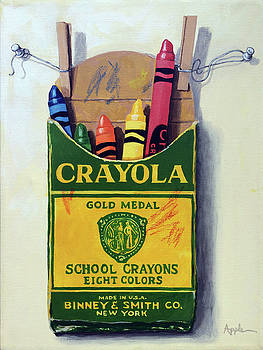 Crayola Crayons painting by Linda Apple