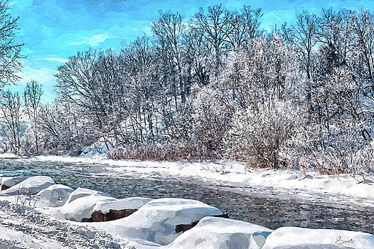 Credit River at Winter by Kai Saarto