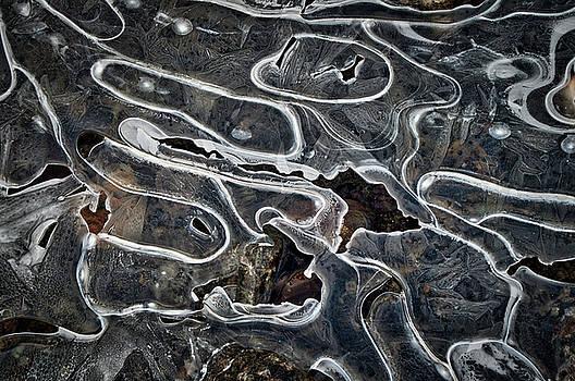 Creek Ice Abstract 1 by Cathy Mahnke