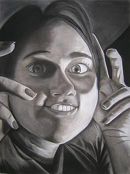 Creepy Self-Portrait by Candace Barnett