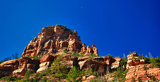 Crescent Moon Over Arizona by Mike Berry