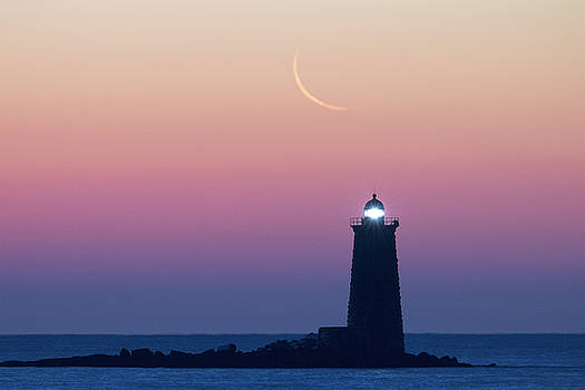 Crescent Moon Over Whaleback by Eric Gendron