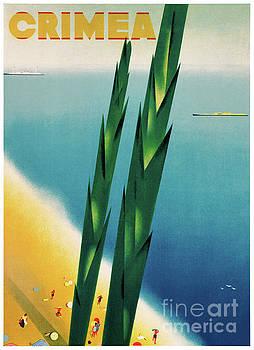 Crimea Vintage Travel Poster Restored by Carsten Reisinger