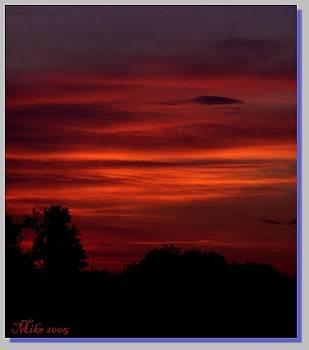 Crimson Sky by Mike Hazelwood