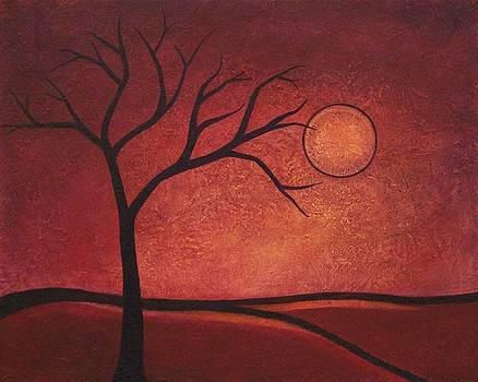 Crimson Sunset by Sandy Bostelman