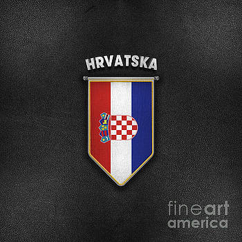 Croatia Pennant with high quality leather look by Carsten Reisinger