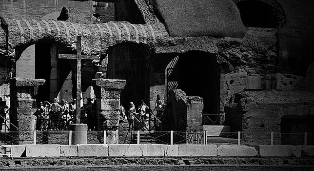Cross at the Colosseum by Peter McAuley