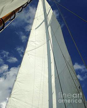 Cross on Sail by Cheryl Del Toro