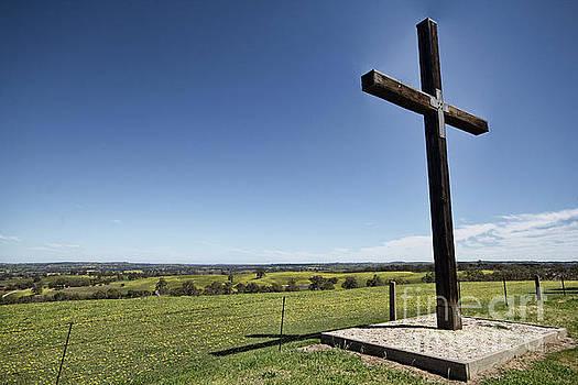 Cross On The Hill V3 by Douglas Barnard