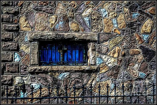 Cross Stained Glass Window by Brenda Bostic