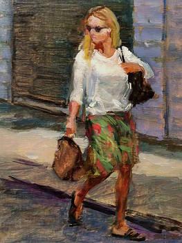Crossing Adams Street by Peter Salwen