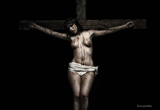 Crucifix I Color by Ramon Martinez