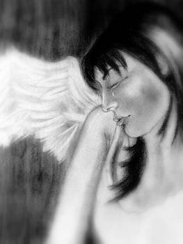 Crying Angel by Gurinder  Singh