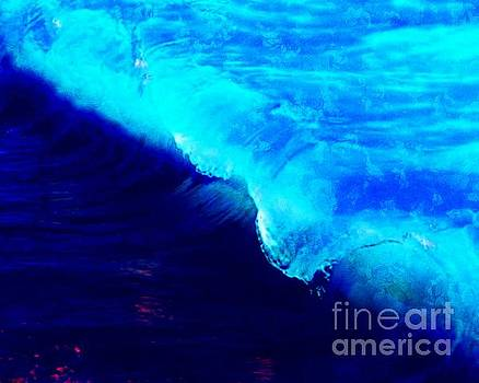 Crystal Blue Wave Painting by Catherine Lott