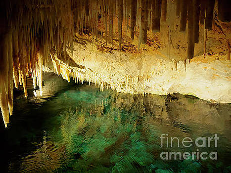 Crystal Cave stalactites in Bermuda by Louise Heusinkveld