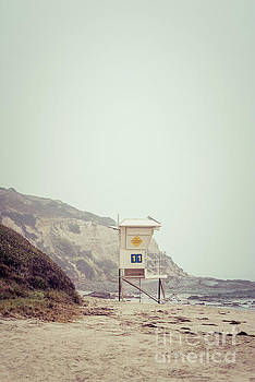 Paul Velgos - Crystal Cove Lifeguard Tower #11 Retro Picture