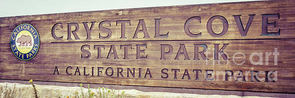 Paul Velgos - Crystal Cove State Park Sign Panorama Photo