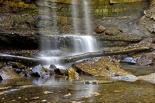 Cucumber Falls detail - Ohiopyle State Park by Brendan Reals