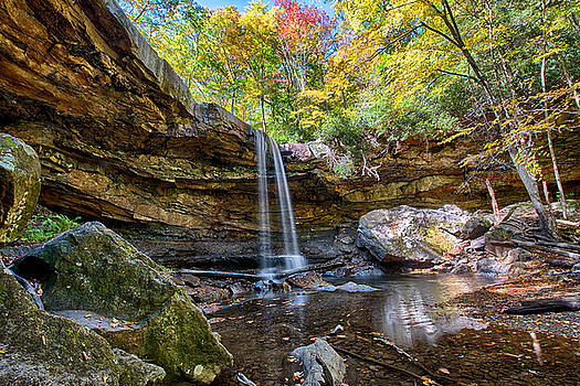 Cucumber Falls in Ohiopyle State Park by Brendan Reals