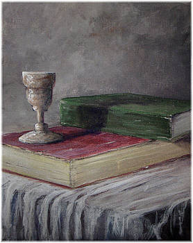 Cup and Books by Kenneth McGarity