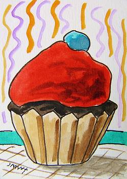 Cupcake-Red by John  Williams