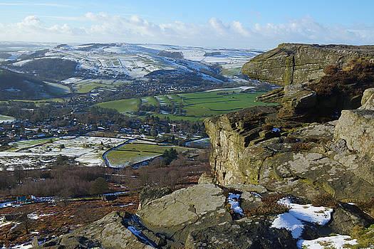 Curbar Edge Rock Formation by David Birchall