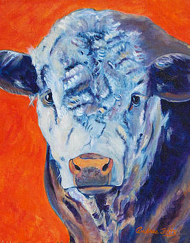 Curly Face Hereford by Andrea Folts