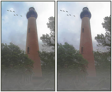 Currituck Beach Light Station - 3D Stereo Crossview by Brian Wallace