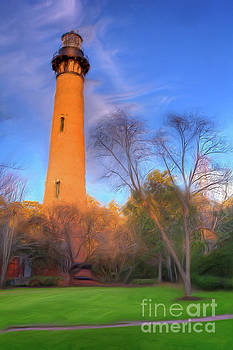 Dan Carmichael - Currituck Lighthouse in Winter Outer Banks AP