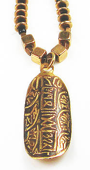 Cuzco Gold Bullion Beaded Necklace by Virginia Vivier