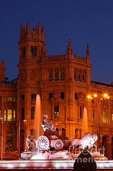 James Brunker - Cybele Fountain at Blue Hour Madrid