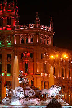 James Brunker - Cybele Fountain at Night Madrid