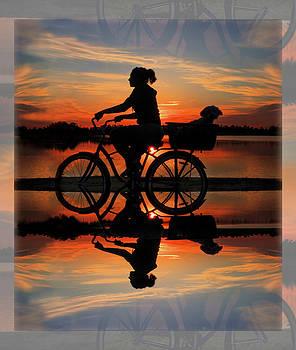 Debra and Dave Vanderlaan - Cycling at Sunset
