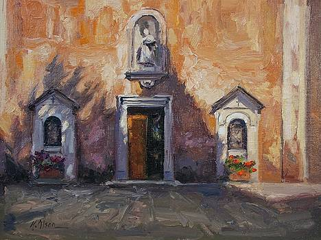 Cypress Shadows, a Church In Rome by Kristen Olson