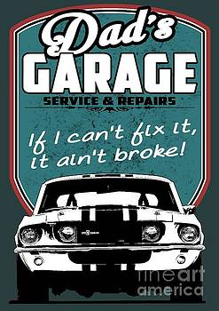 Dad's Garage with Mustang by Paul Kuras