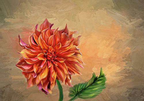 Dahlia in the fall by Mary Timman
