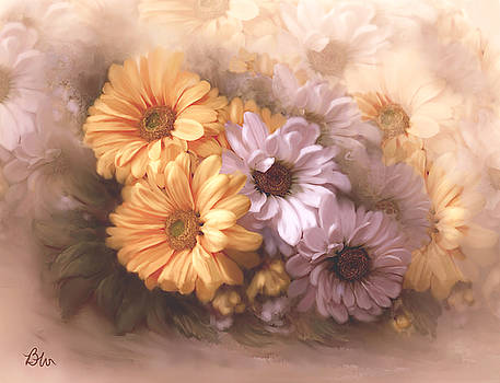 Dahlias in multiples by Bonnie Willis
