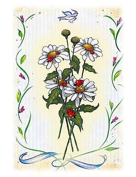 Joyce Geleynse - Daisies And Ladybugs