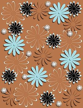 Daisies Brown Background by Yoli Fae