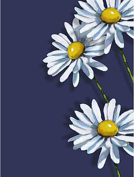 Joyce Geleynse - Daisies on Blue No. 2