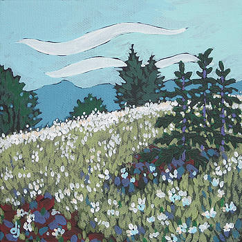 Daisies on the Hill by Dorothy Jenson