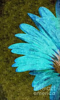Daisy In Aqua And Olive  by Jacqueline McReynolds