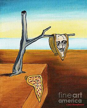 Dali Out On A Limb And A Pizza Clock by Jerome Stumphauzer